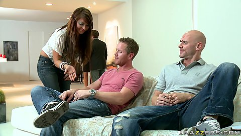 Baby gob boobs Johnny sins going to nikas party