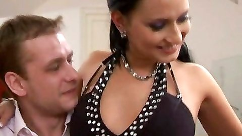 Hot busty tits get whipcream all over them