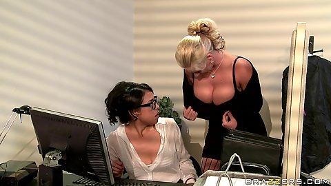 Phoenix Marie on big tits at work