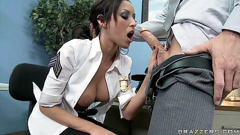 Big tits security guard hmm sounds fishy