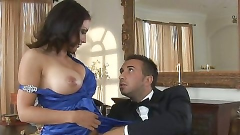 Big tits Karrlie a lonely milf fucks a male prostitute at home