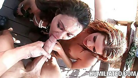 Slut opens up wide for a big cumshot
