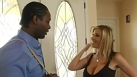 Hot milf dresses up for a big black cock tenant