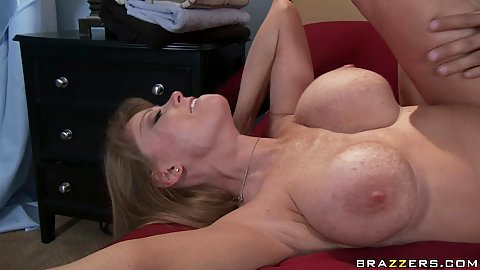 Big tits horny mom milf Darla spreads shaved pussy and ass
