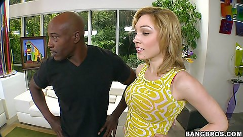 Lily Labeau goes on monsters of cock