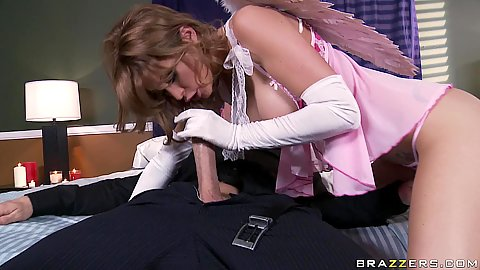 Valentines day cupid fucked in sexy pink lingerie