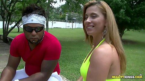 Hot brazilian slut in the park