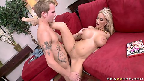 Big tits milf HOlly fucked and tits squeezed