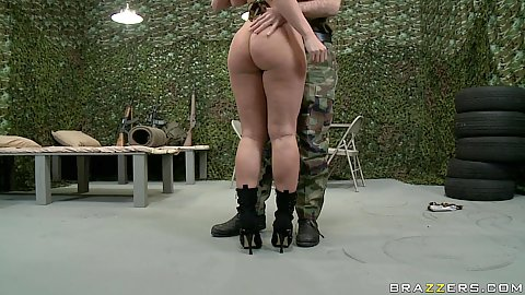 Great army slut Devon gets ass rimmed