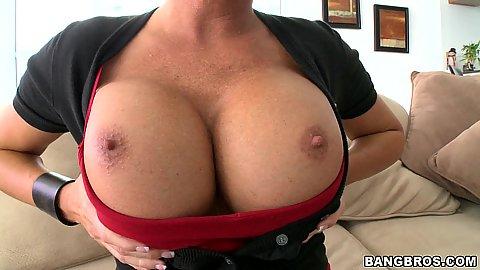 Big tits milf Shay Fox pulling out those boobies