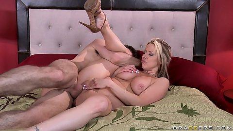 Milf with big tits Carolyn sideways fuck