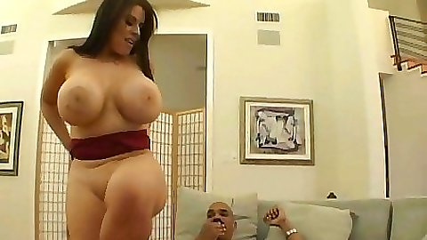 Busty daphne shuvs that black rod far up her anus