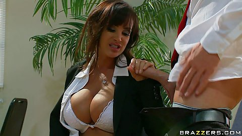 Big tits milf blowjob in a business suit