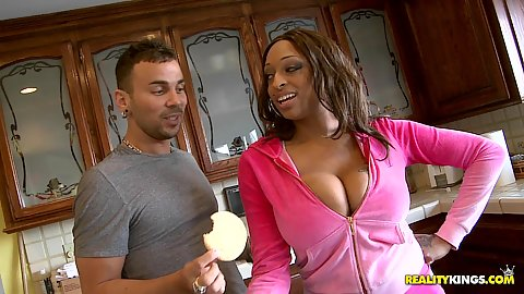 Big naturals with Carmen doing some cookies