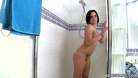 Channel Ryder in the shower abin