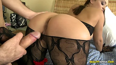 Doggy style fucking Liiza and she spreads it