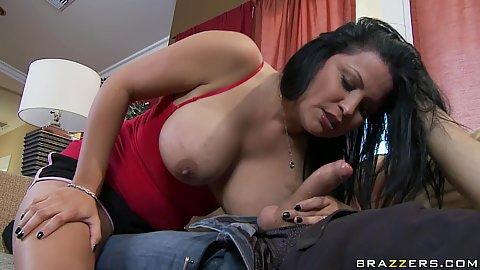 Busty brunette milf titty fuck from Sophia