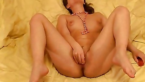 Milf gf gets naield and licks a dildo all alone