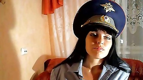 NAughty police officer babe and her stick