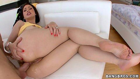 Close up anal fucking Sarah Shevon and gaping
