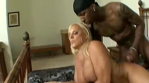Busty milfs ass gets prepped for nice black anal plowing