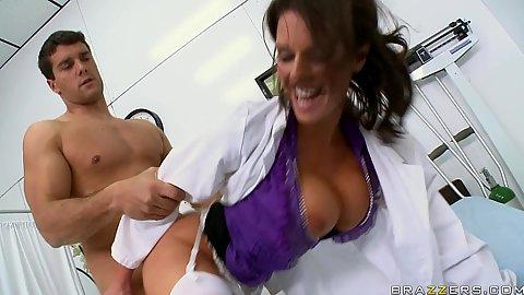 Doctor sucks off poor patient