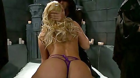 Shyla Stylez on her knees slapped and licked