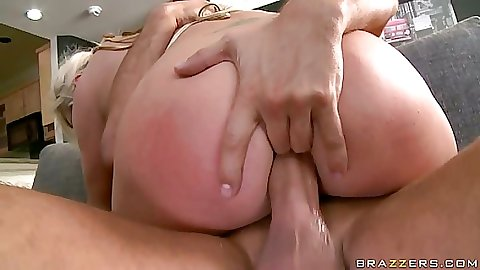 Skylar gets anal with fingers and cock inside ass
