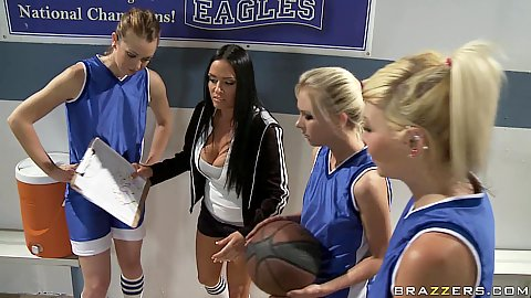 Big tits at school with MS Deville the coach