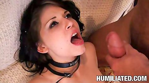 Teen gets a nice facial mouthful after fucking