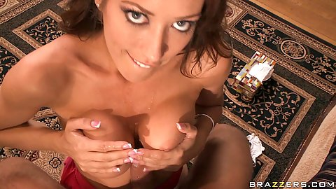 Big tits horny milf housewife Capri sucks and licks