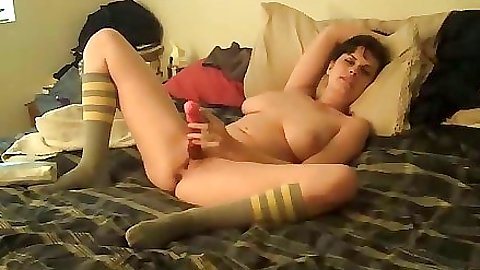 Masturbation with a dildo and sucking my dick too