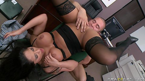 Pile driver fucking Miss Jolie on the floor