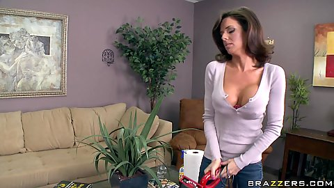 Veronica is a horny milf a single mom with big boobs