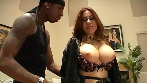 Sheila Marie goes down on a big brothas cock