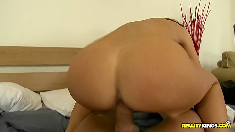 Reverse cowgirl hot chick with ass spreading fuck