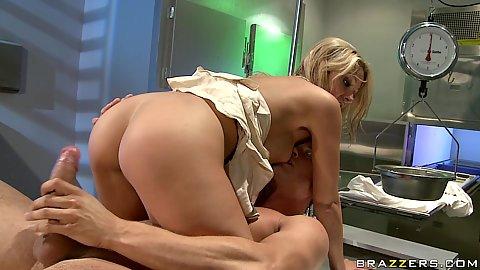 Big tits Dr Natalie Vegas fucking a guy
