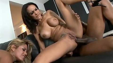 Latina hotties slowly sit on cock with their little anus