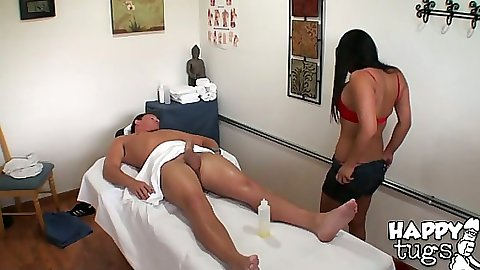 Adrianna a busty asian massage pro working ahrd