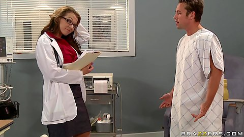 Patient gets approached by big tits doctor