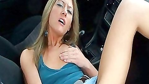 Gf fingers herself in a car in public