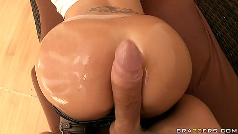 Doggy style wet oiled up anal asian ass fuck