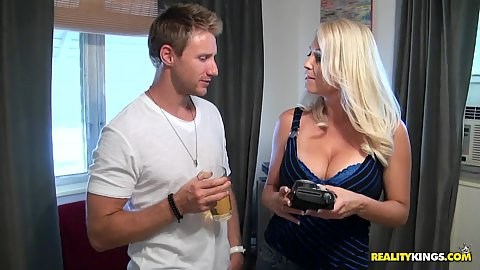 Milf hunter big tits milf in tight dress