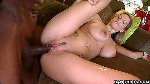 Busty Haley Cummings spreads her white pussy