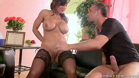 Big tits Lisa fucks her patient in office