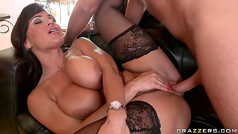 Big tits Lisa sideways fucked and penetrated