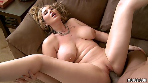 Big black cock and big tits white milf