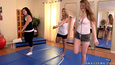 Kiara is a super hot lesbian yoga instructor