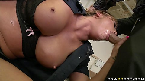 Criminals fuck up big tits police officer Mia