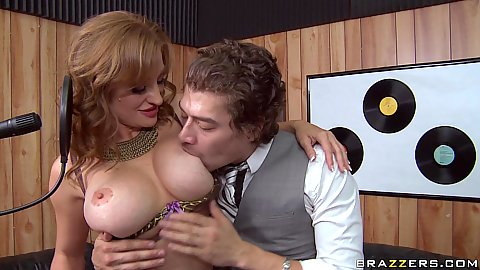 Hot big tits milf Mya getting nipples licked